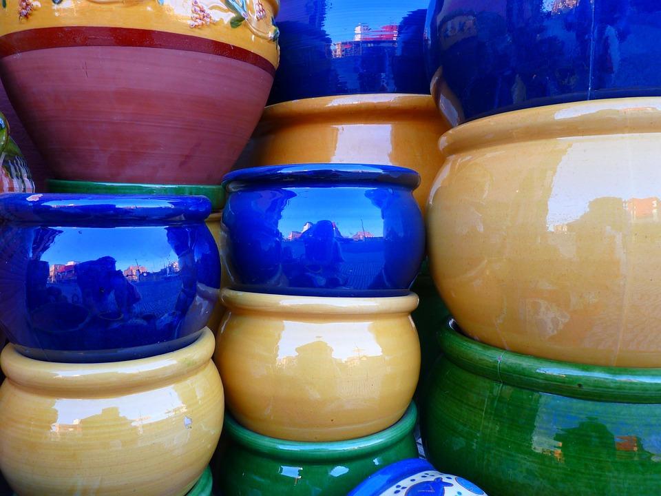 Ceramic, Pots, Colorful, Fragile, Color