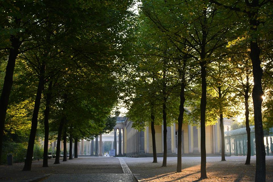Court Of Honor, Sanssouci, Potsdam, Back Light