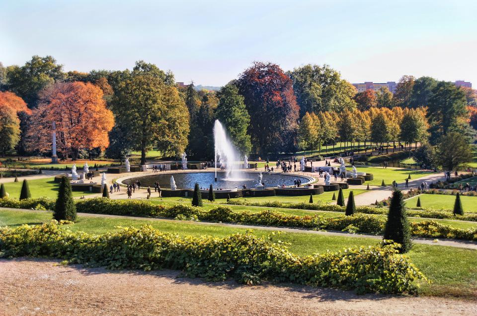 Park, Fountain, Park Sanssouci, Potsdam, Garden, Trees