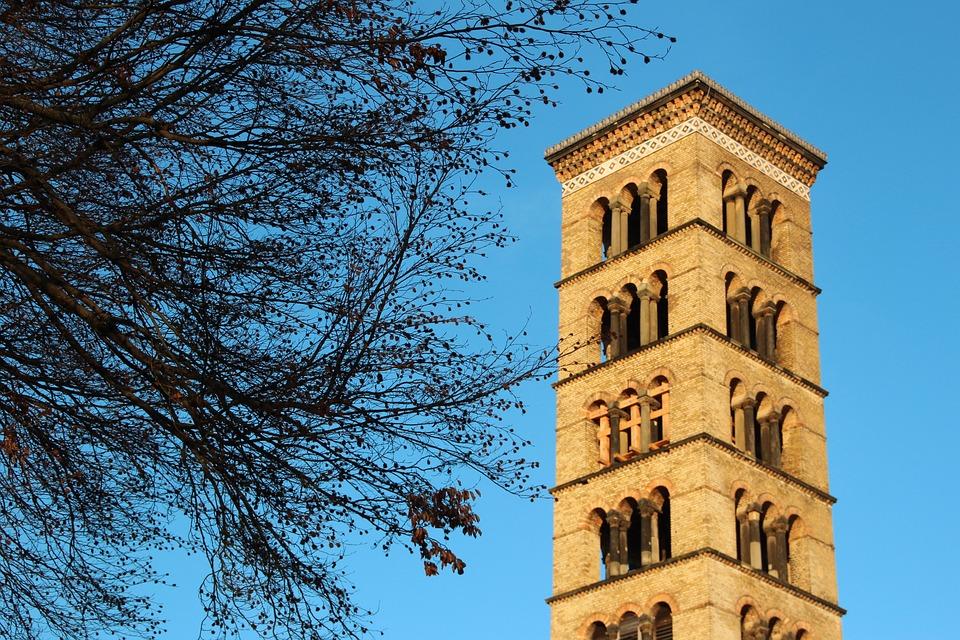Potsdam, Tower, Norman Tower, Park Sanssouci, Ruins
