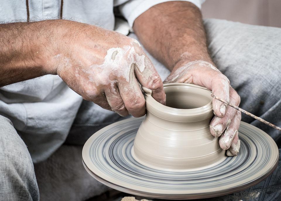 Potter, Ceramics, Clay, Circle, Potter's Wheel, Hands