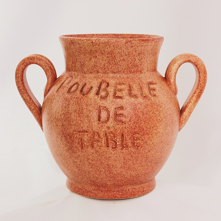 Pottery, Container, Trash, Table, Table Bin, Art