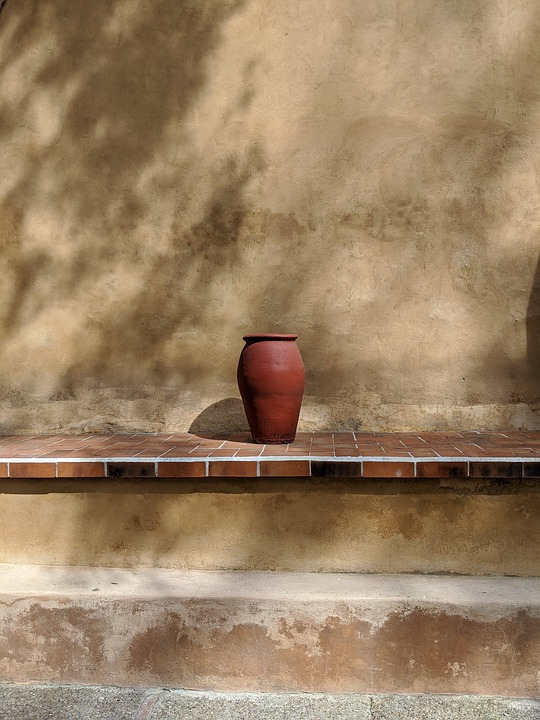 Pot, Pottery, Shelf, Decorative, Vase