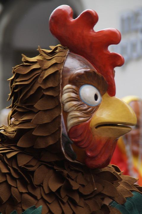 Gockel, Hahn, Chicken, Poultry, Bird, Comb, Face, Head