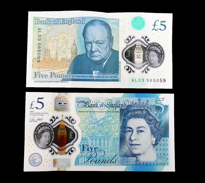 Five Pound Note, Cash, Money, Pound, British, Finance