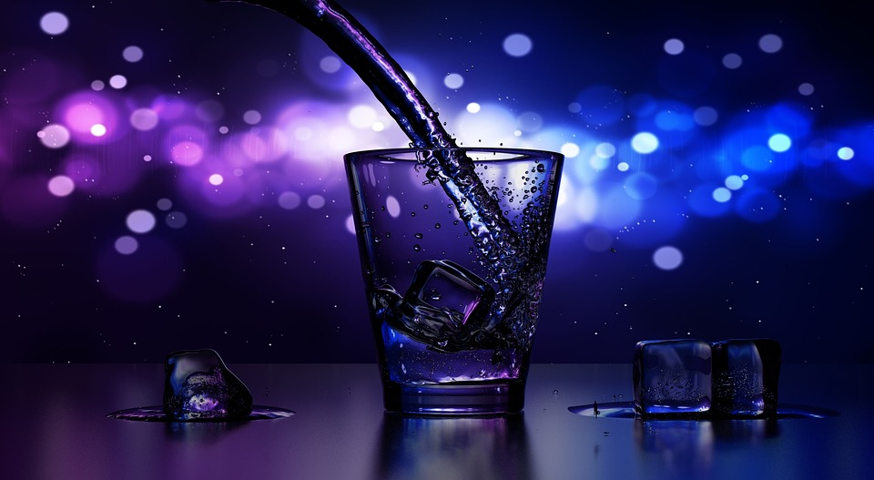 Drink, Glass, Pouring, Bar, Pub, Ice, Alcoholic