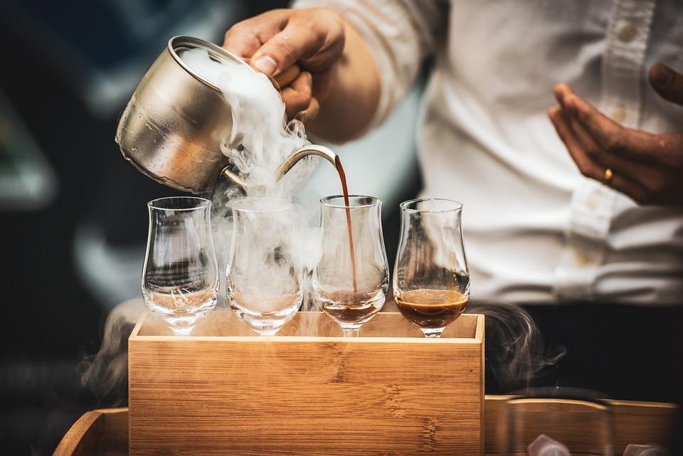 Barista, Coffee, Pouring, Espresso, Latte, Cafe