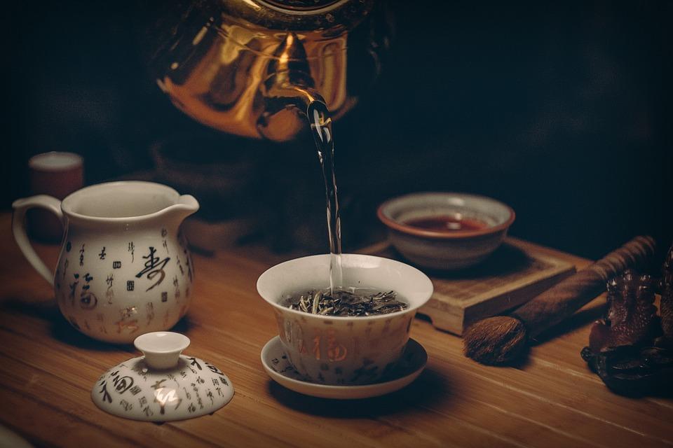 Tea, Cup, Pot, Tea Leaves, Pour, Pouring, Pouring Tea