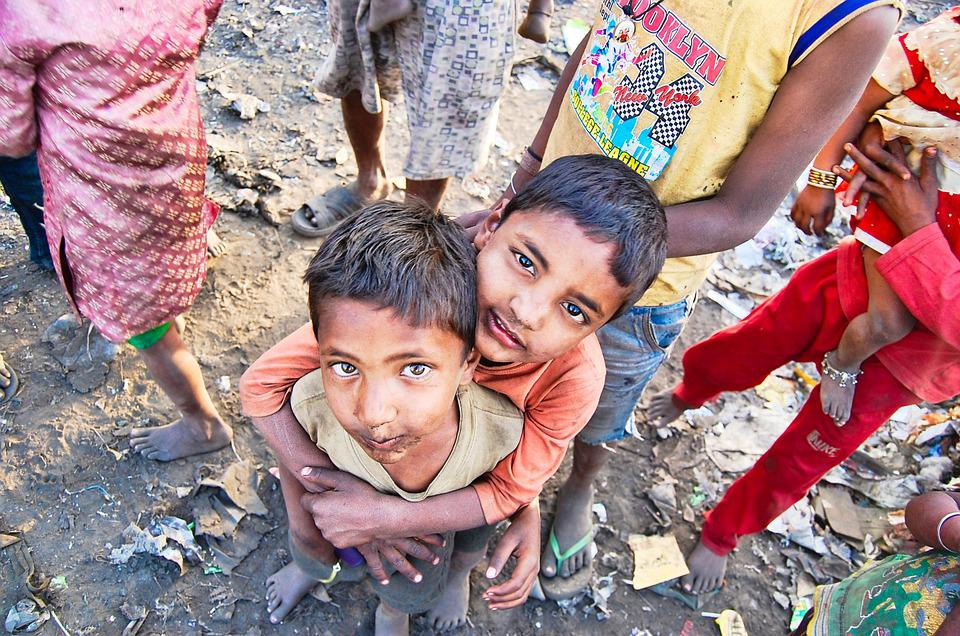 India, Slums, Poor, Boys, People, Poverty, Travel