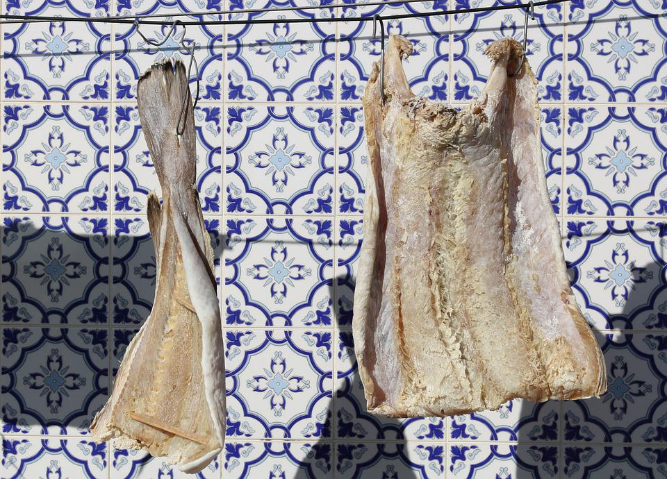 Portugal, Povoa De Varzim, Fish, Food, Drying