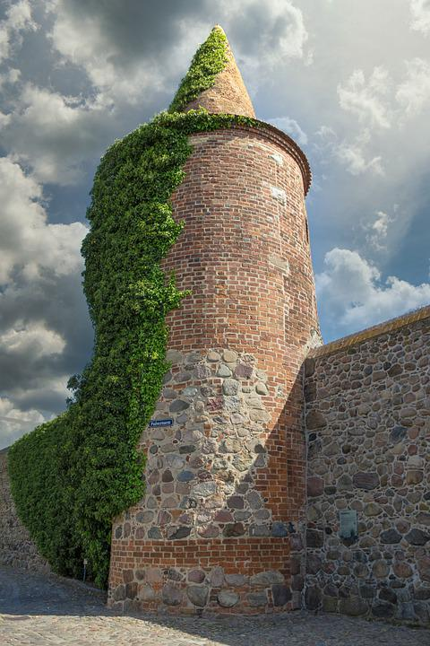 Powder Tower, Old, City Wall, Templin, Uckermark