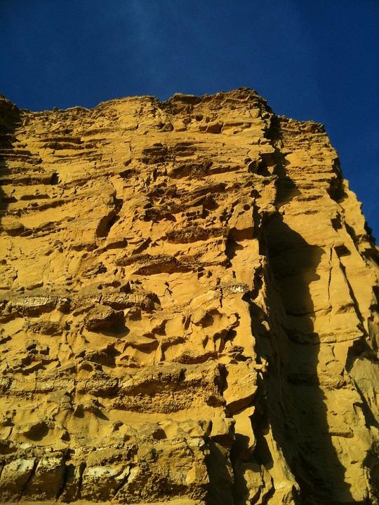 Cliff, Sea, Beach, Grace, Power, Tall, Steep, Sky, Rock