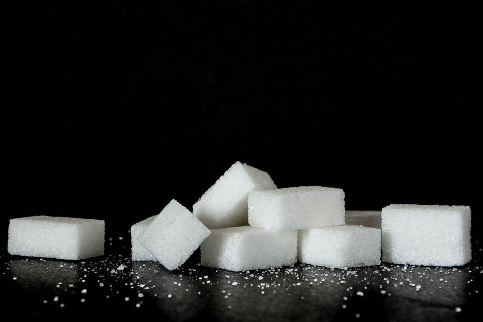Sugar, Sweets, Black Background, Calories, Food, Power