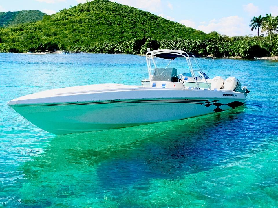 Power Boat, Virgin Islands, Caribbean, Summer, Water
