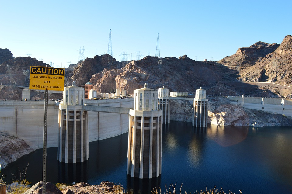 Hoover Dam, Dam, River, Hydroelectric, Power, Structure