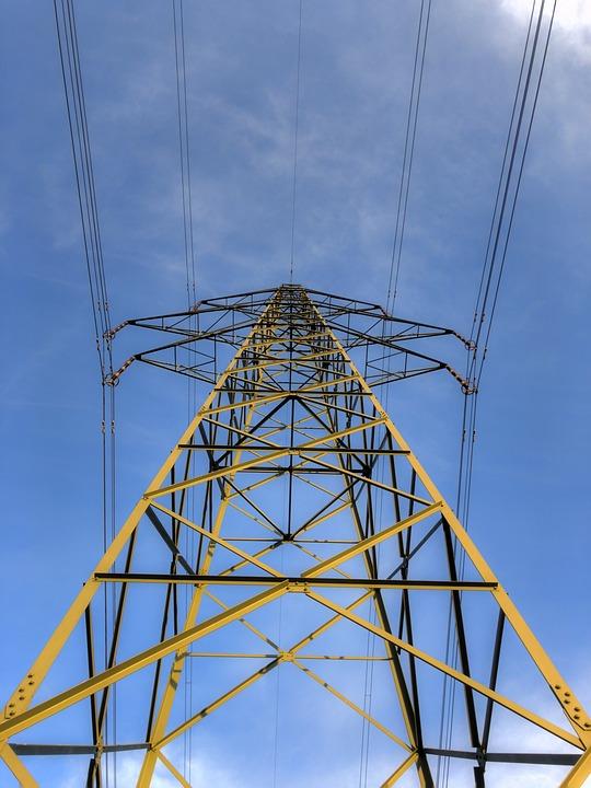 Ström, Mast, Sky, Cable, Voltage, High, Power Line