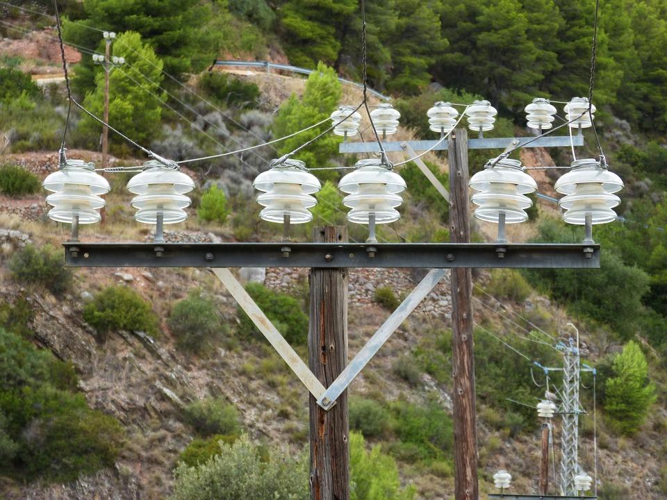 Power Line, Insulators, Perspective