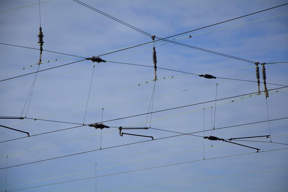 Power Line, Railway Traffic, Railway Line, Current