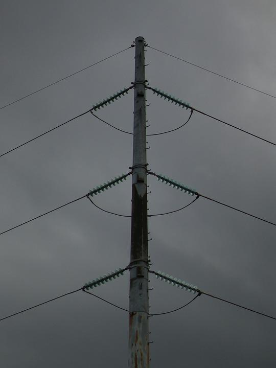 Utility Pole, Power Lines, Electricity
