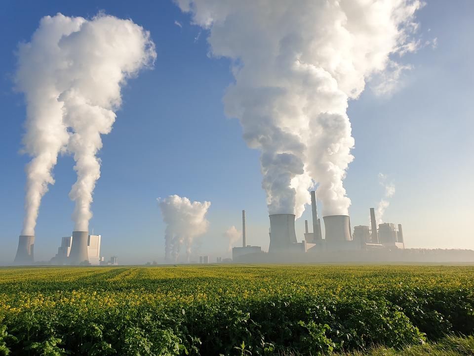 Power Plant, Clouds, Carbon, Coal Power, Energy