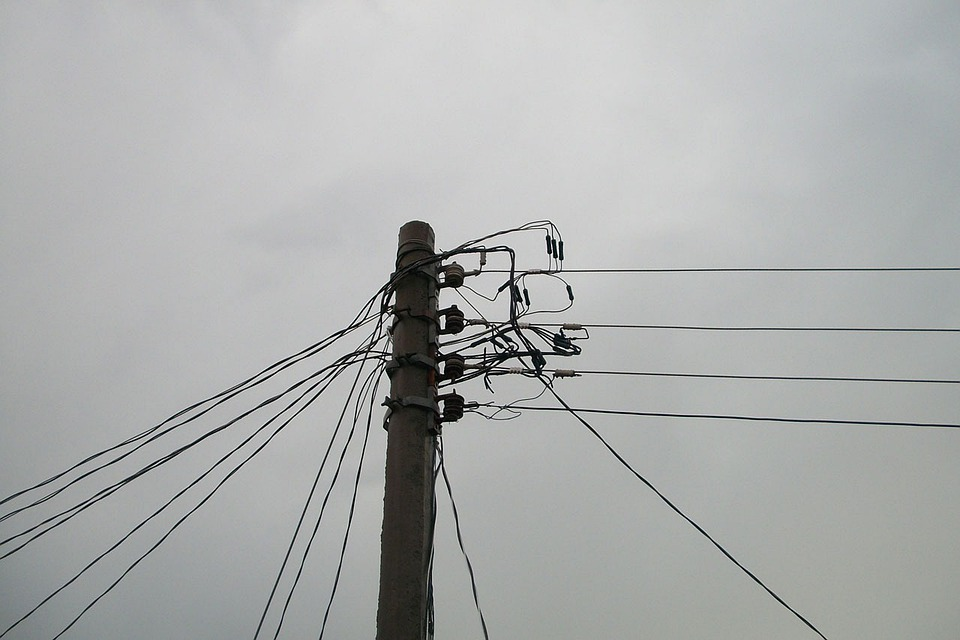 Free photo Power Pole Connection Electrical Wires Cables - Max Pixel