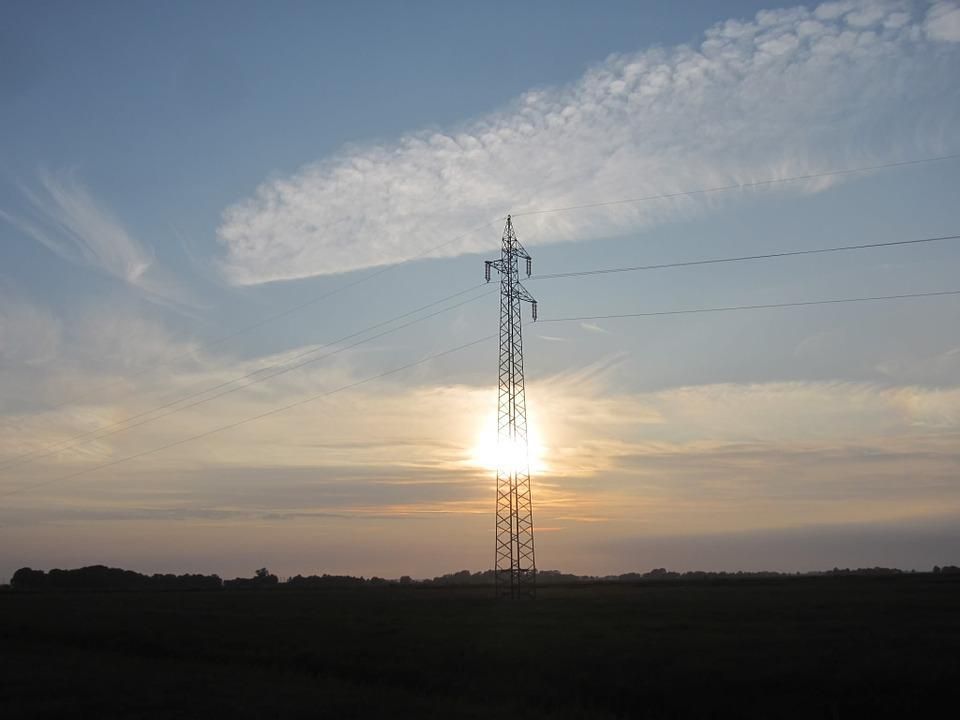 Power Poles, Sunset, Cloud Mood
