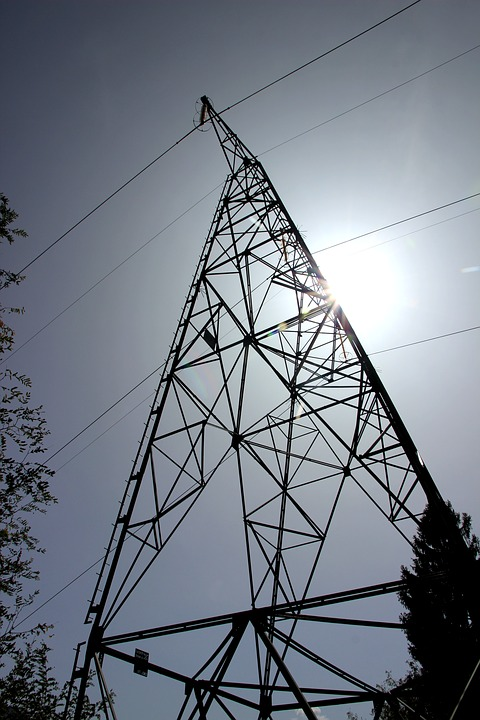 Current, Power Poles, Strommast, Power Line