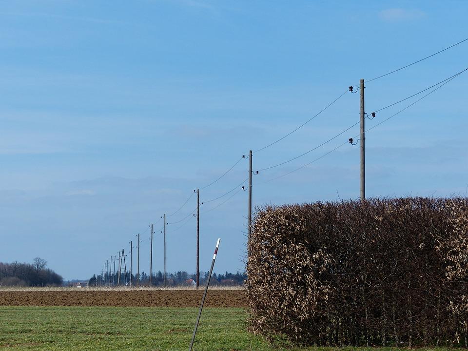 Power Poles, Power Lines, Electricity, Strommast
