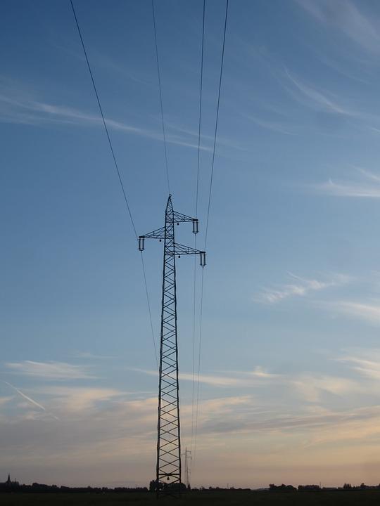 Power Poles, Sunset, Cloud Mood