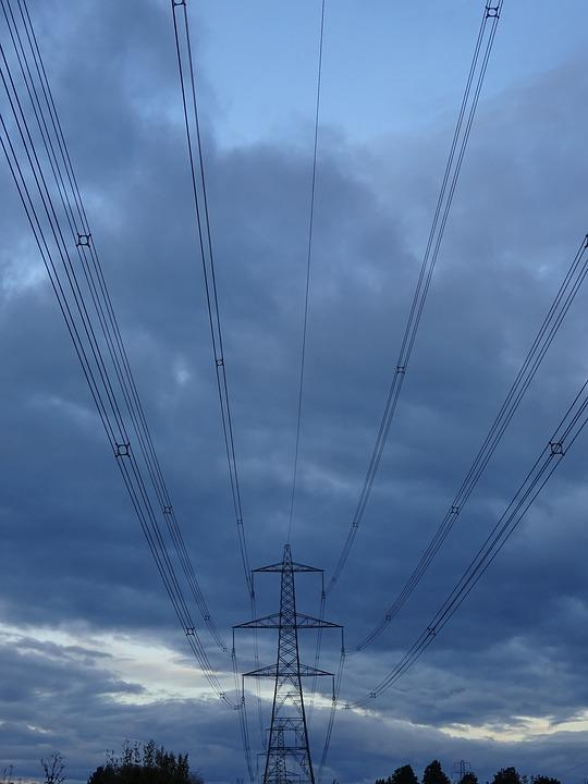 Pylon, Cables, Electricity, Power, Industrial, Wire