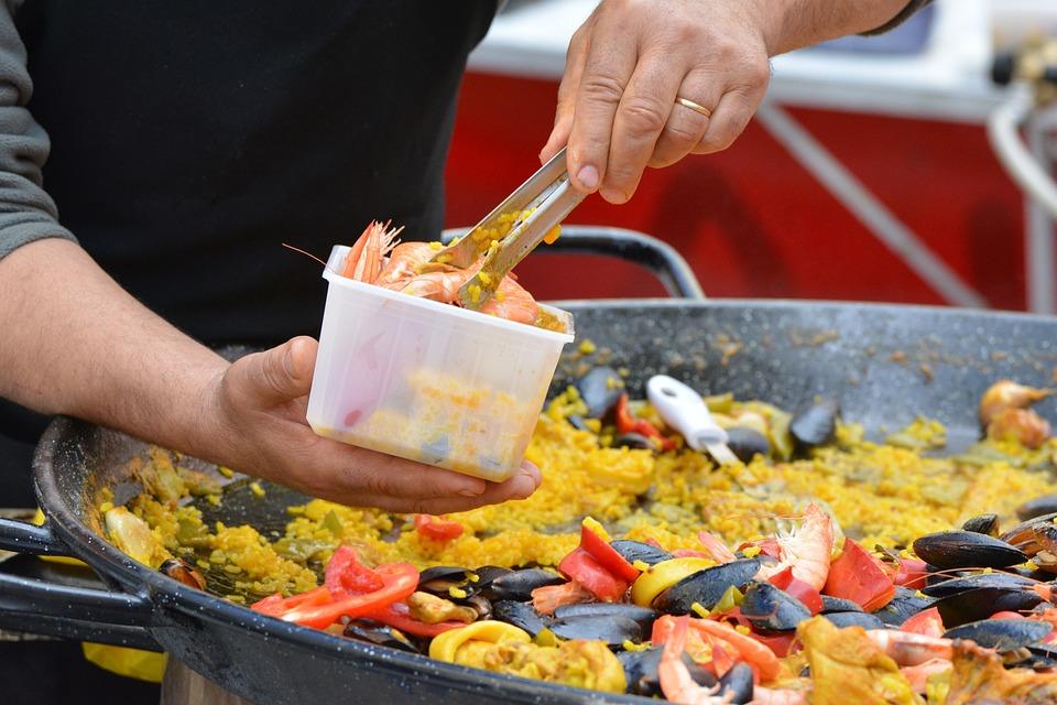 Paella, Power Supply, Food, Court