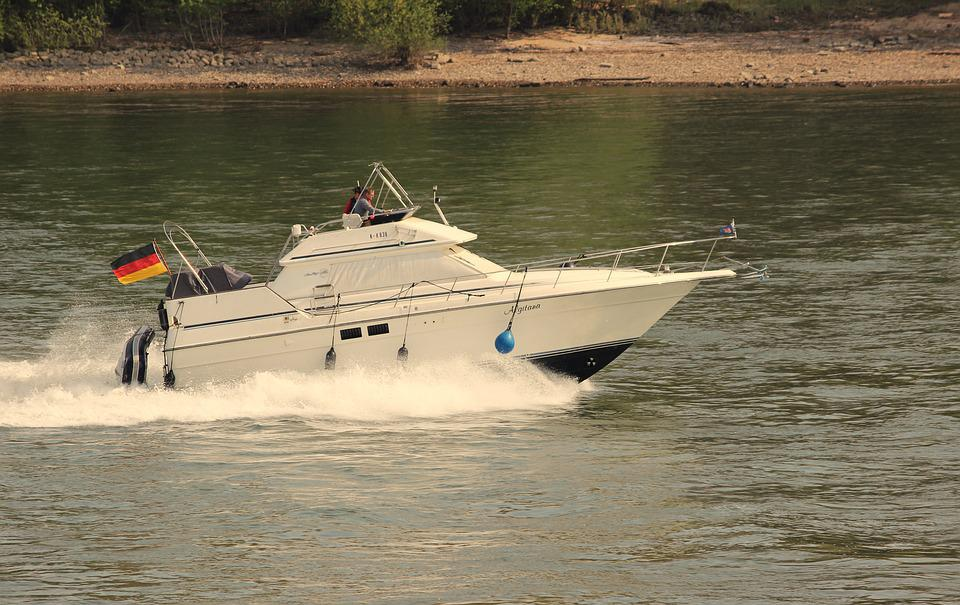 Ship, Boot, Powerboat, Rhine, Water, River, Holiday