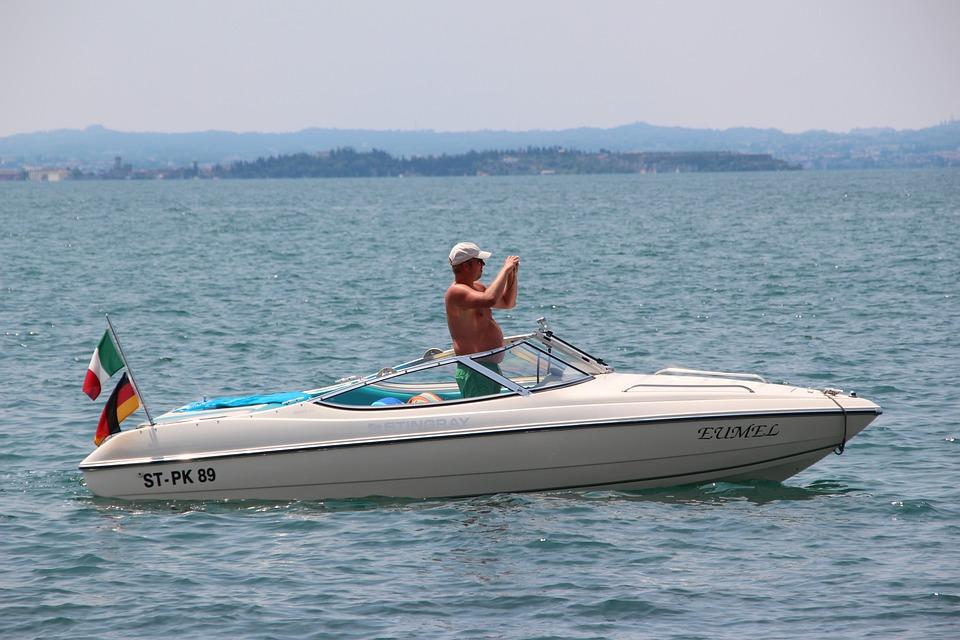 Boot, Powerboat, Ship, Driver, Man, Lake, Sail