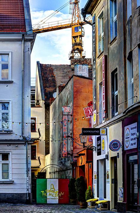 Poznan, The Market, Townhouses, The Lift, Crannies
