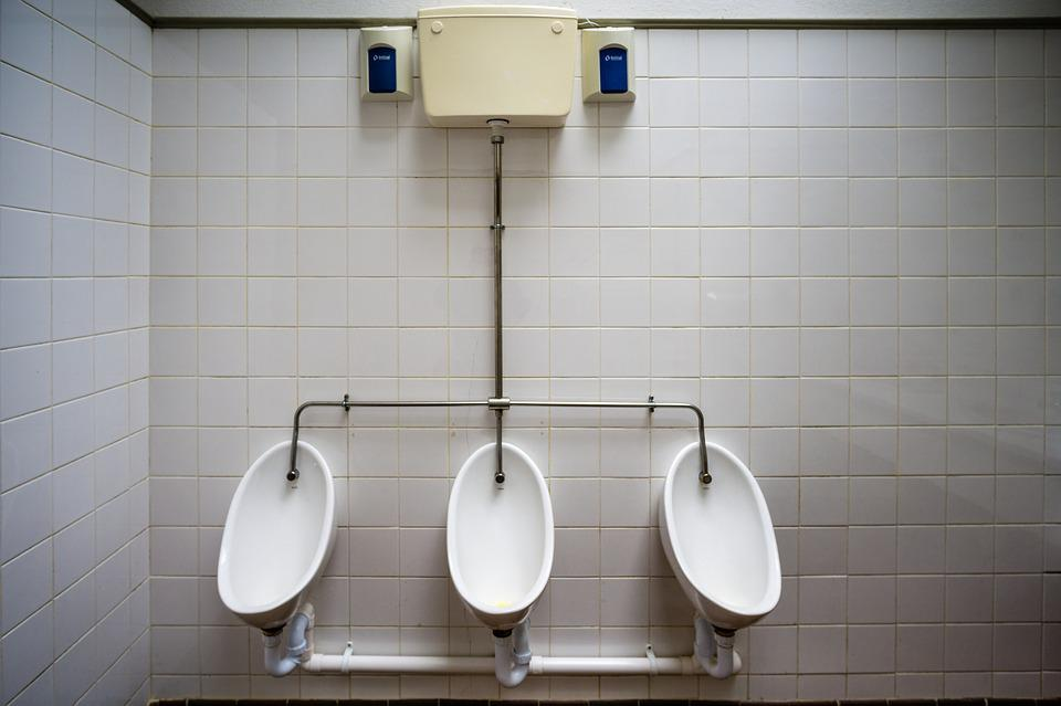 Pp, Urinal, Men's, Wc, Toilet, Public, Symmetrical