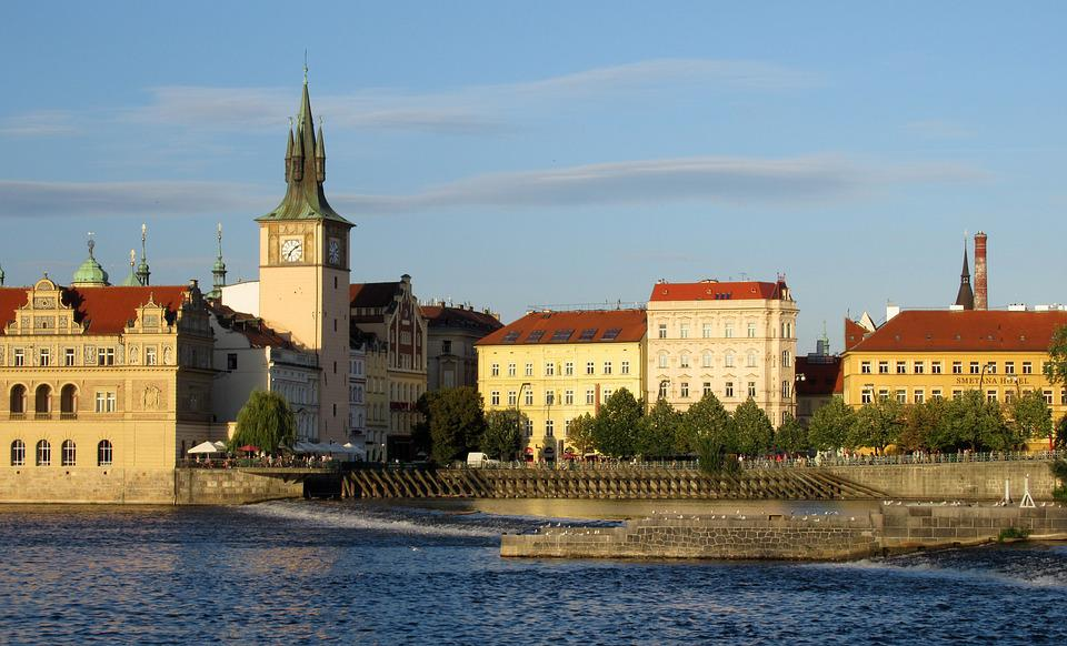 Prague, Vltava, Tower, Buildings