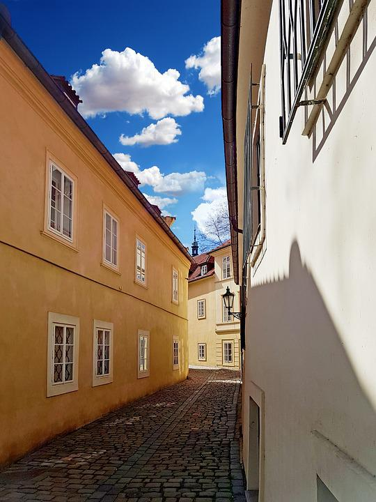 Prague, Alley, Paving, Czech Republic