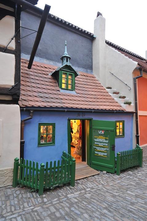 House, Small, Prague, Czech