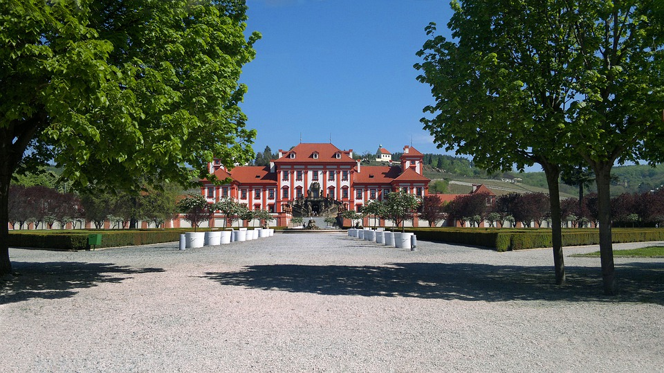 Prague, Castle, Baroque, History, Troja Castle, Park