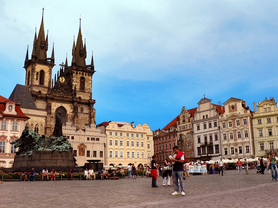 Prague, Czech, Classic, Place, City, People, Rush