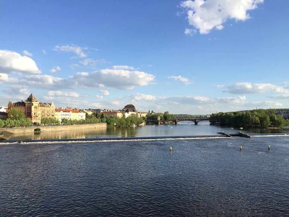 Europe, Prague, River, Czech Republic