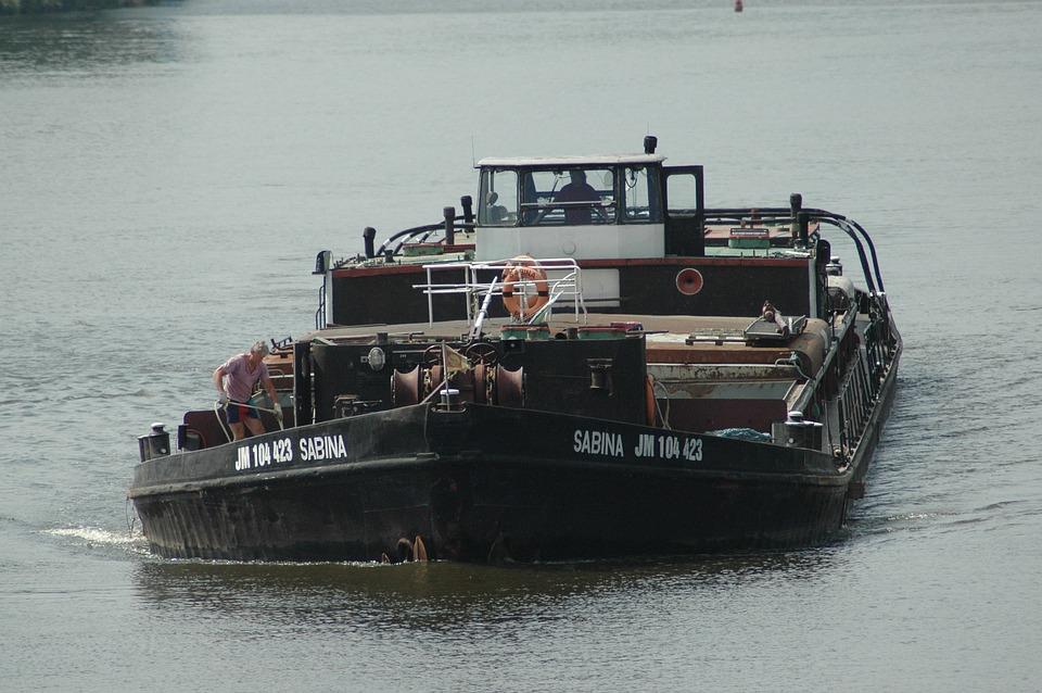 Shipping, Ship, River, Prague