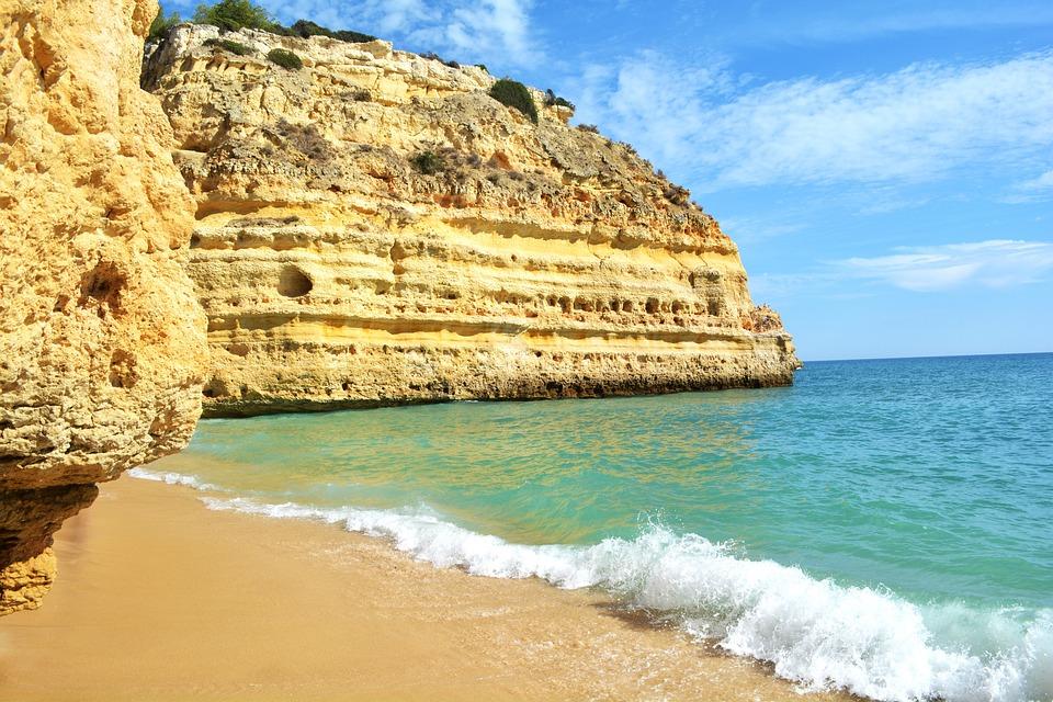 Praia Da Marinha, Portugal, Algarve, Blue Sea