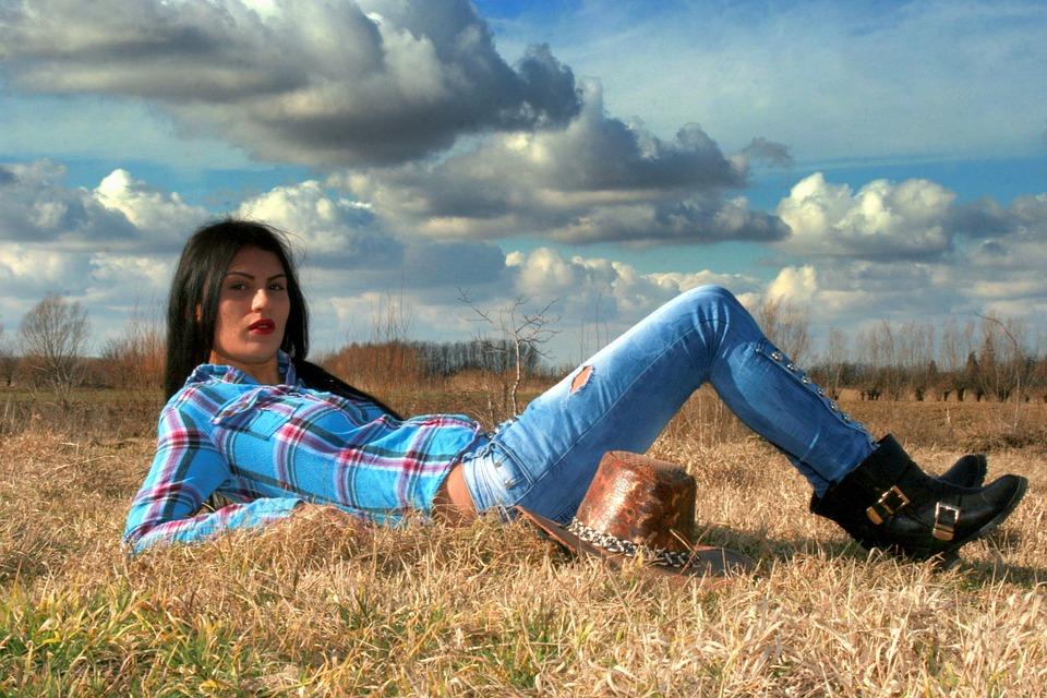 Cowgirl, Western, Wild West, Hats, Prairie