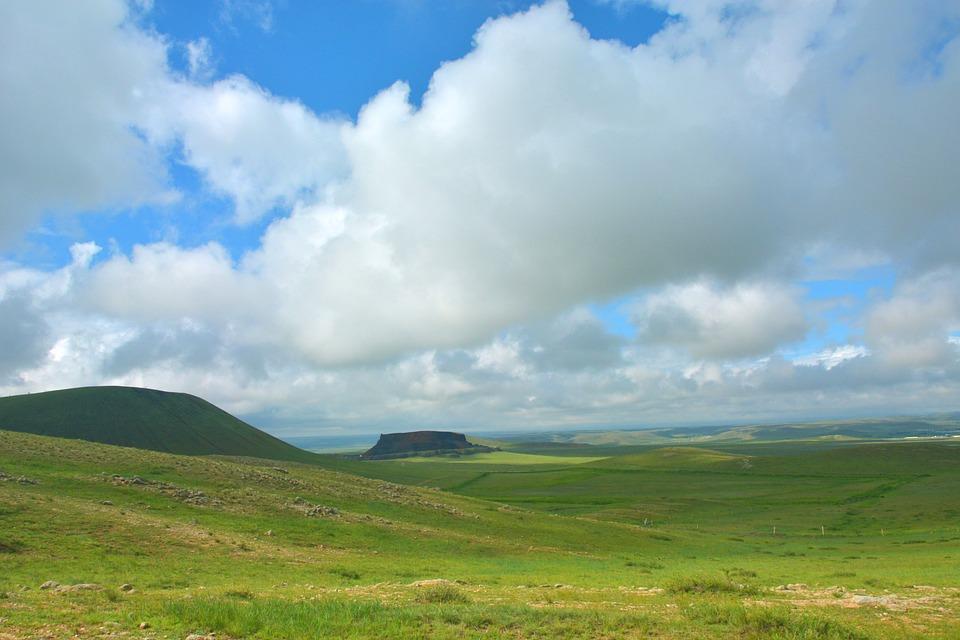 Prairie, Mountain, Fields, Meadow, Grassland, Plains