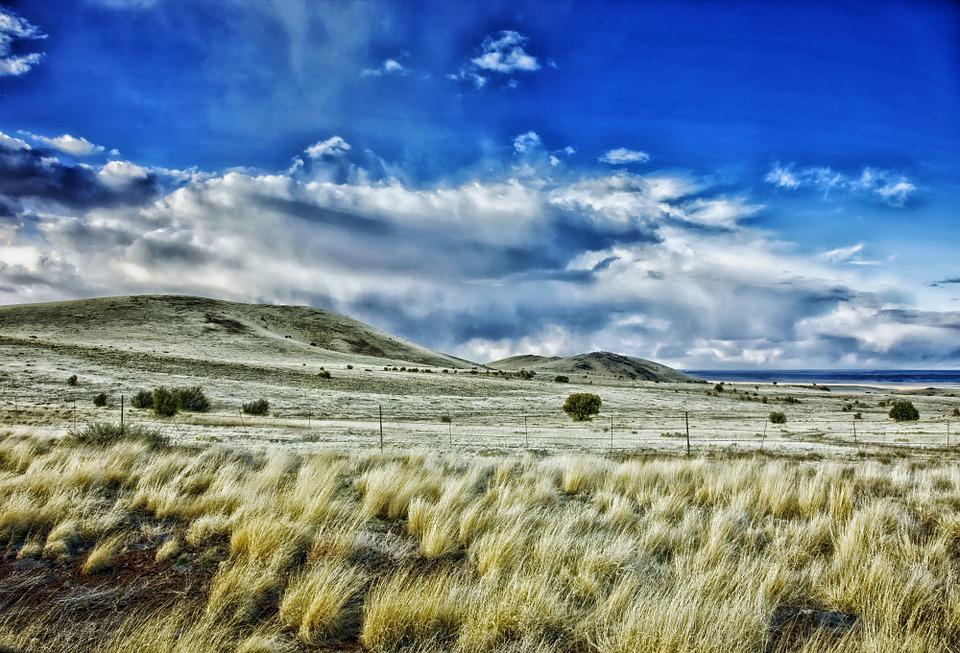 New Mexico, Landscape, Scenic, Sky, Clouds, Prairie