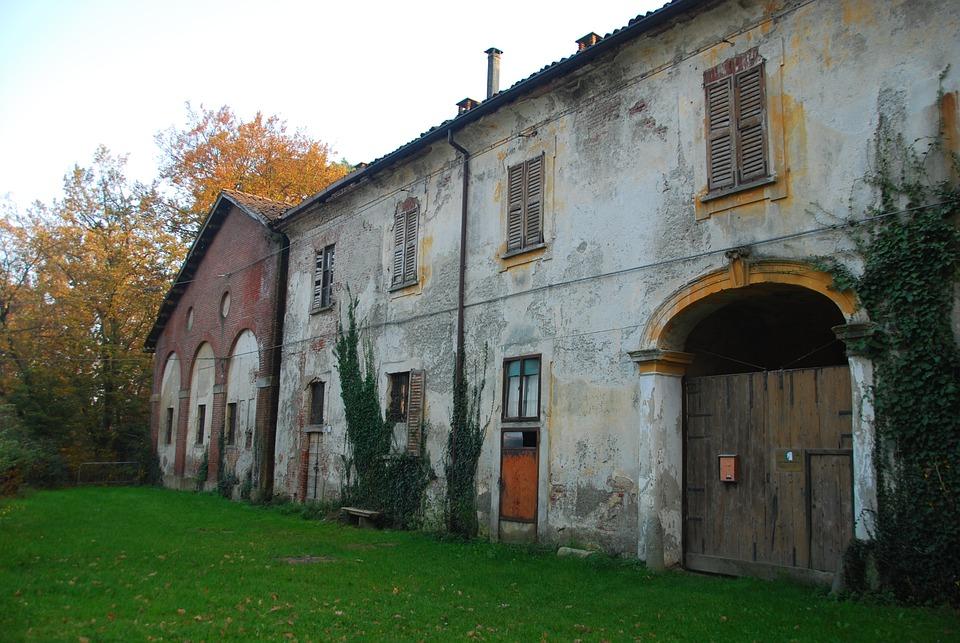 Cottage, Cascina, Prato, Green, Autumn, Park, Monza