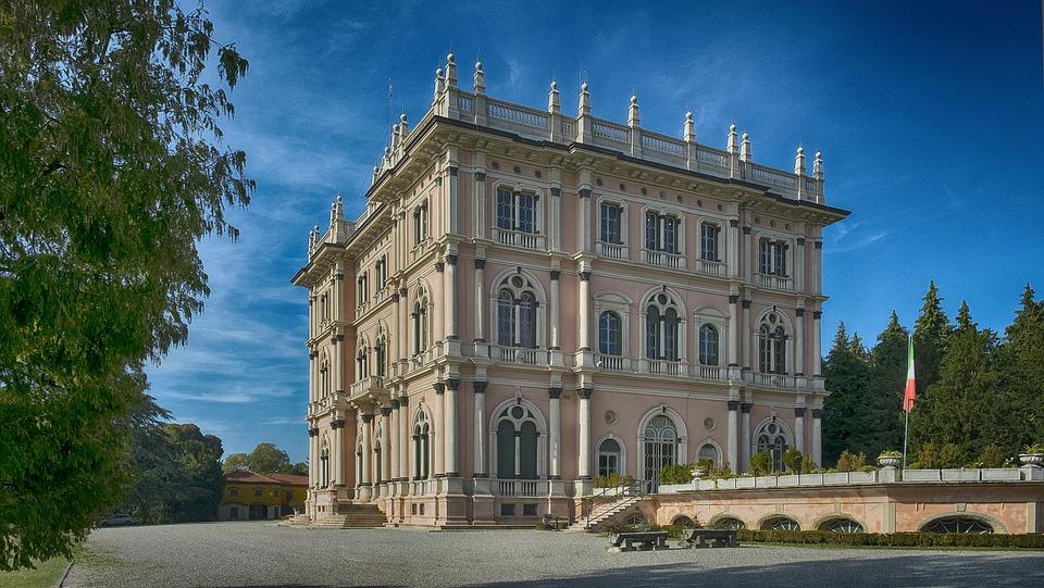 Villa Ponti, Varese, Lombardy, Italy, Sky, Prato, Green