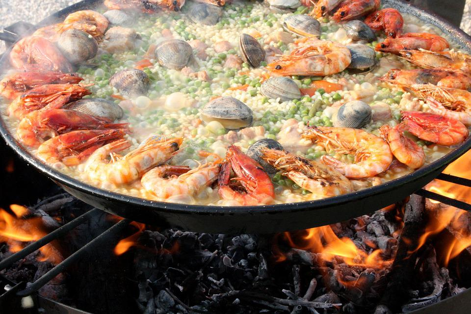 Paella, Lena, Mixed, Valencia, Seafood, Shrimp, Prawn