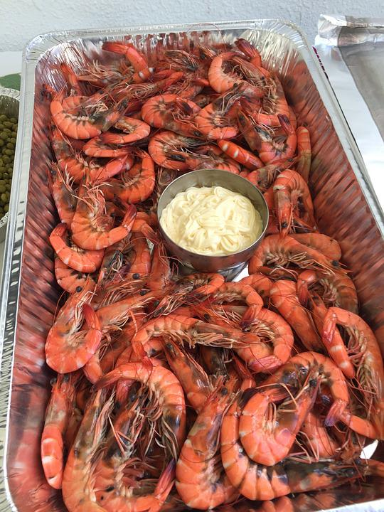 Prawns With Mayonnaise, Seafood, Appetizer